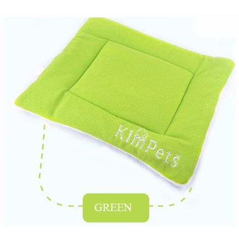Mattress Carpet Cushion Bed Sleeping Niche Velvet For Dog Cat Animals Green 87 * 54cm XL