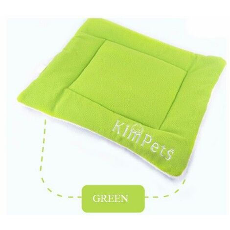 Mattress Mat Cushion Bed Sleeping Niche Velvet For Dog Cat Animals Green 87 * 54cm XL WASHED