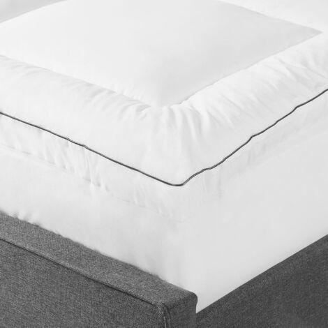 Mattress Topper Protector King Size Bed 160 x 200 cm Japara Cotton White Trivor