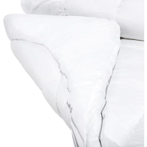 "main image of ""Mattress Topper Protector Single Bed 90 x 200 cm Japara Cotton White Trivor"""