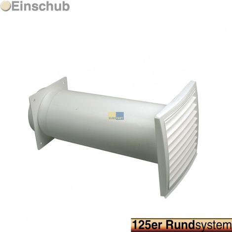 Rückstauklappe 125erR weiß Rundsystem-Rückstauklappe für Schläuche und passend