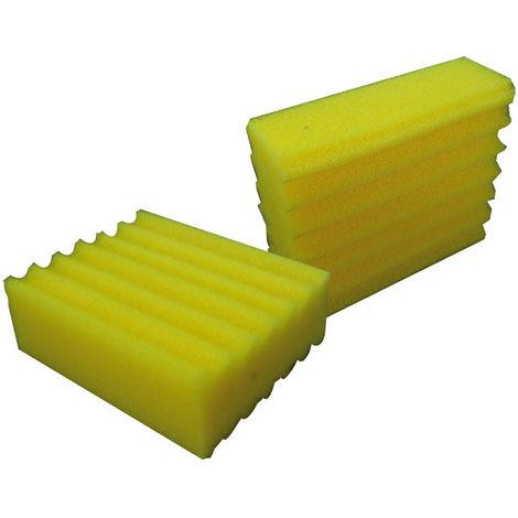 Mauk Filtereinsatz Filterschwamm Filtereinheit fein gelb