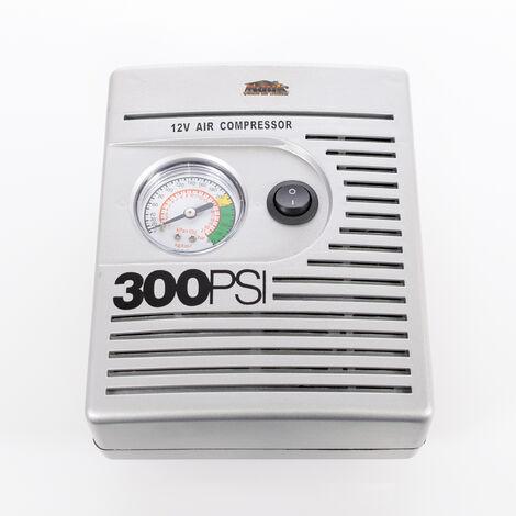 Mauk Kfz Auto Mini Druckluft Kompressor 12 V 21 bar mit 3 Adapter