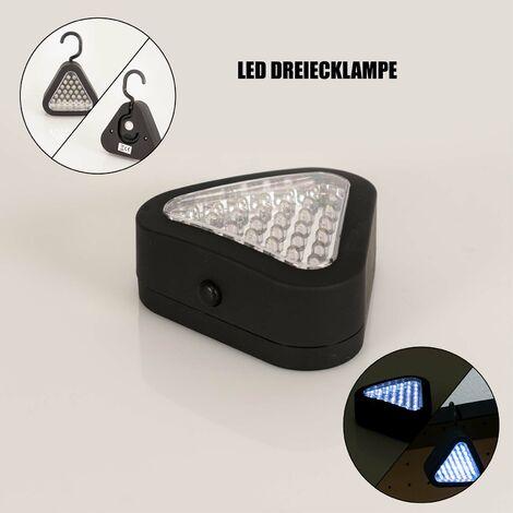 Mauk LED Werkstatt Dreiecklampe Handlampe Taschenlampe Leuchte Hängelampe Lampe 21 LED's mit Haken und Magnet