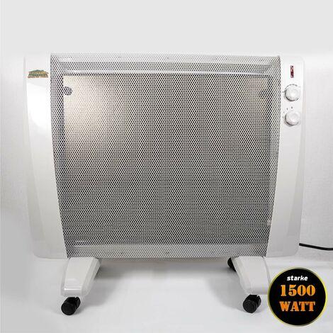 Mauk Wärmewellen Heizgerät Heizgebläse Heizer Heizung Infrarot rollbar 1500 W mit Thermostat
