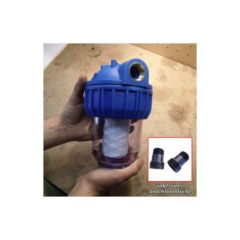 Mauk Wasserfilter Pumpen Filter Vorsatzfilter Vorfilter 3000 l/h 2,54 cm 1 Zoll mit PP Filter
