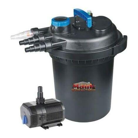 Mauk XL UVC Teichdruckfilter Teichklärer Set 13 W 10000 l/h mit Pumpe 60 W 4700 l/h