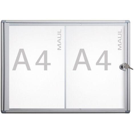 MAUL – Vitrine d'affichage, profondeur extérieure 27 mm - hauteur extérieure 350 mm, 2 x format A4