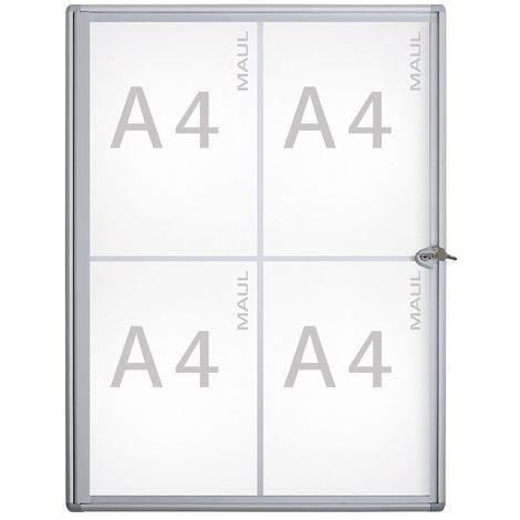 MAUL – Vitrine d'affichage, profondeur extérieure 27 mm - hauteur extérieure 655 mm, 4 x DIN A4