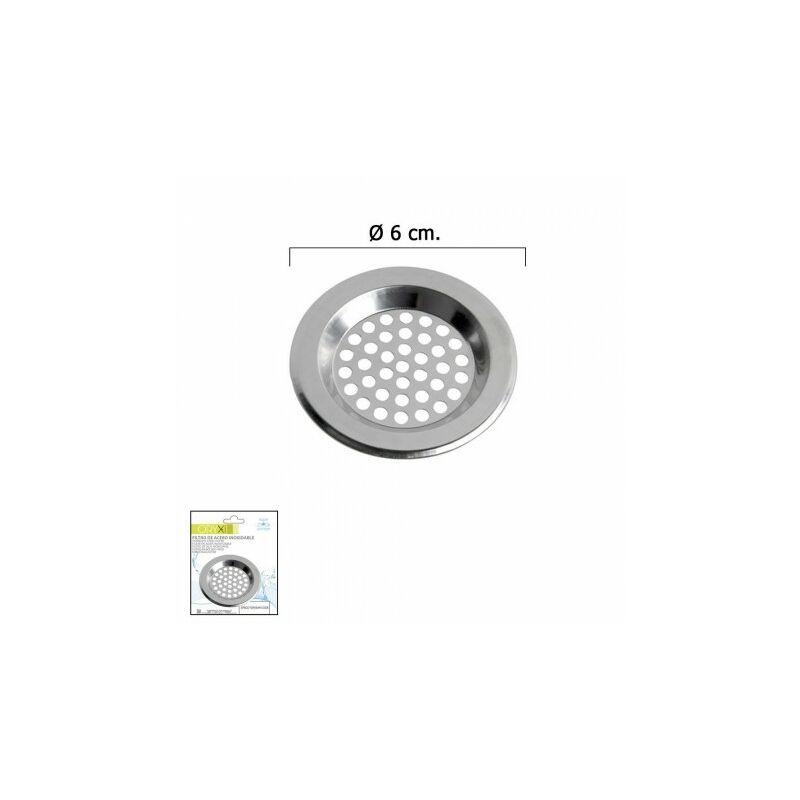 Filtre lavabo lavabo inoxydable 6 cm.
