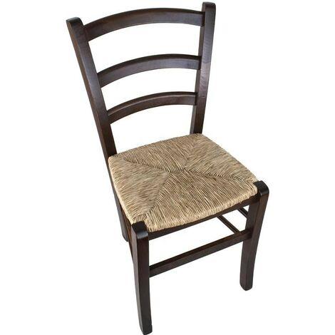 Sedie In Legno Arte Povera.Maury S Sedia Betty Arte Povera In Legno Noce Sedile In Paglia