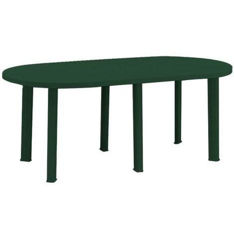 Tavoli Resina Da Esterno.Maury S Tavolo In Resina Ovale 180x90x72 Cm Colore Verde Da