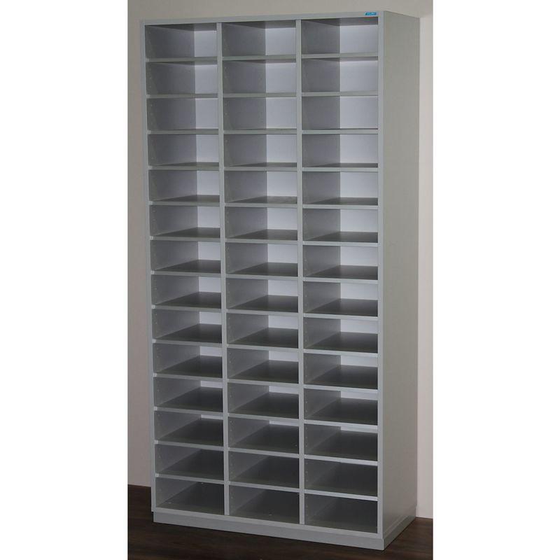OFFICE AKKTIV Rayonnage de tri, modèle large - h x l x p 1864 x 913 x 420 mm, 42 casiers format A4 - gris clair RAL 7035 - Coloris: gris clair