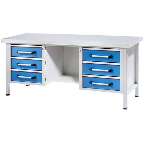 mauser Armoire universelle extra-haute - h x l x p 2200 x 950 x 500 mm - gris clair/bleu outremer - Coloris corps: gris clair RAL 7035