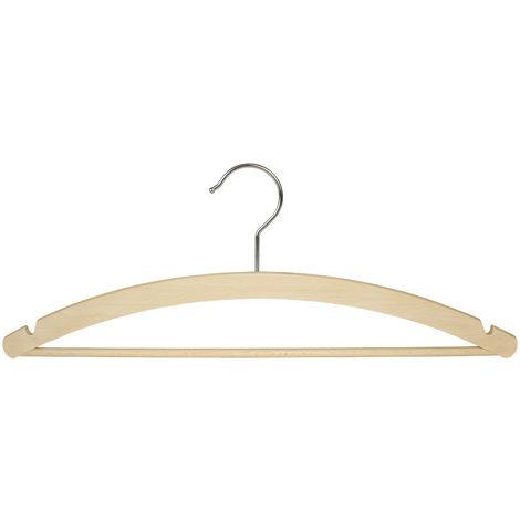 MAWA Holz Kleiderbügel Standard 42/RE/S, Buche