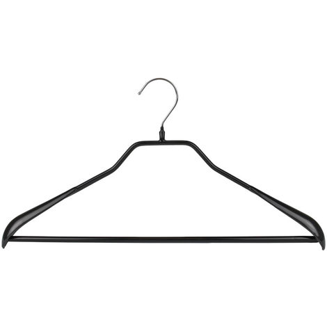 MAWA Metall Kleiderbügel Bodyform 42/LS, schwarz