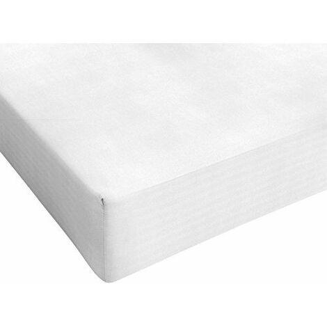 Max Color Drap sous 2pmx, 100% coton, blanc, lit king size, 200x 180x 2cm