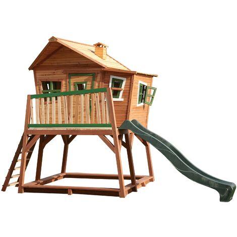 Max Playhouse: Maisonnette pour enfants, fenêtres intégrées et bois très résistant