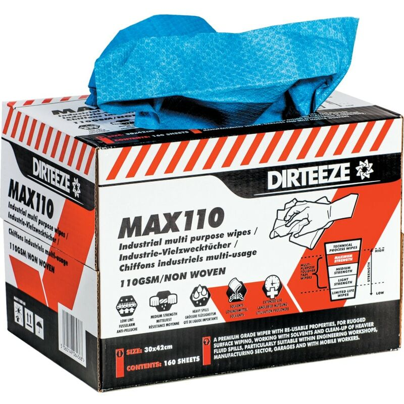 Image of Dirteeze Industrial Multi-purpose Wipes, Pack Qty 160