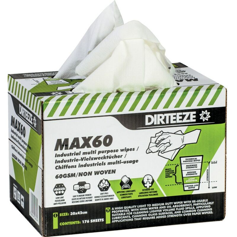 Image of Multi-purpose Wipes, Pack Qty 176 - Dirteeze