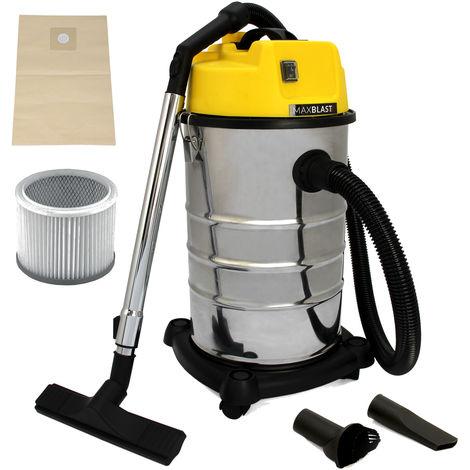 MAXBLAST - Aspiradora Industrial 30 litros para Limpieza en Seco y Húmedo