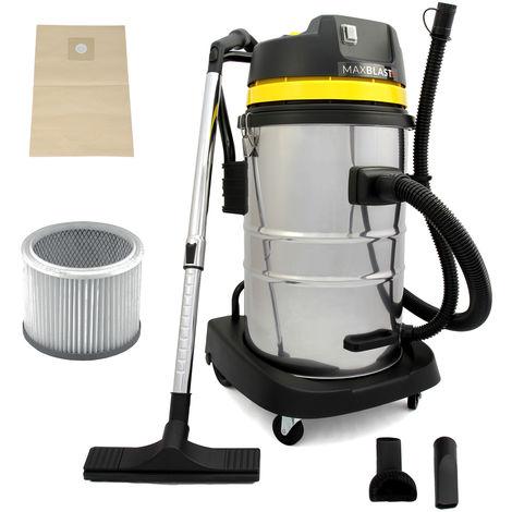 MAXBLAST - Aspiradora Industrial 60 litros para Limpieza en Seco y Húmedo