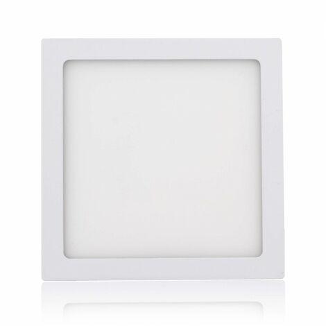 MAXCRAFT Panneau LED Spot Lampe 18W 225 x 225 mm - Blanc froid