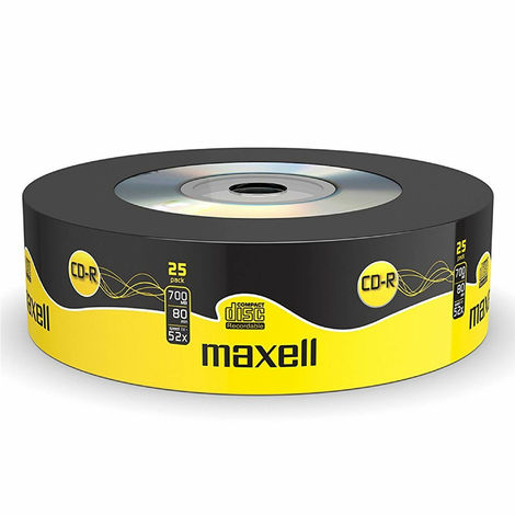 Maxell CD-R 52x 700MB Storage - Extra Protection - 25 Blank Discs Pack