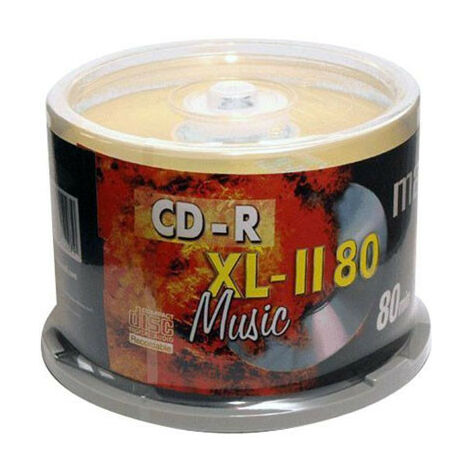 Maxell CD-R Audio Music XL II, 80min, 50 pièces en cake box (624050.00.CN)