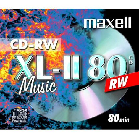 Maxell CD-RW XL II Audio Pro 80min, en jewelcase (624865)