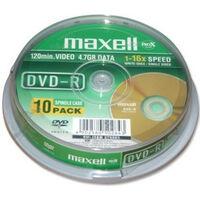 Maxell DVD-R 16x, 10 pièces ne cake box (275593)