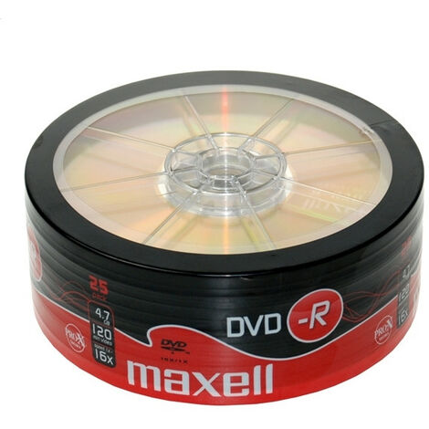 Maxell DVD-R 16x 25 pièces en shrink (275731)