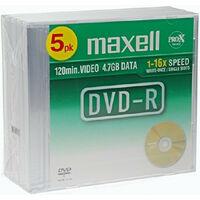 Maxell DVD-R 16x certifié, 5 pièces en slimcase (275607)