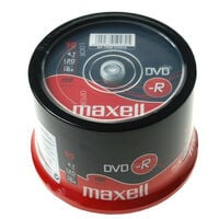 Maxell DVD-R 16x certifié, 50 pièces en cake box (275610)