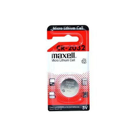 Maxell Pile Bouton CR2032, la pièce (103040.)