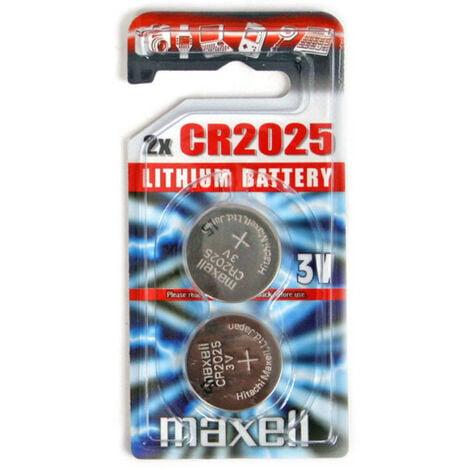 Maxell Pile cr2025, 2 pièces en blister (789097)