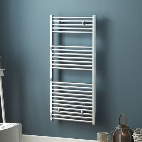 MaxHeat Trade Straight Heated Towel Rail - 1200mm High x 500mm Wide - Chrome