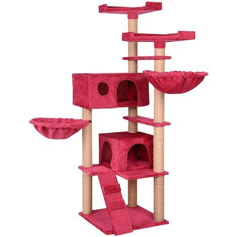 Maxi arbre à chats avec plateformes niches et paniers Bordeaux
