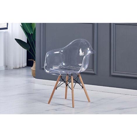 Maya - lot de 4 chaises transparent