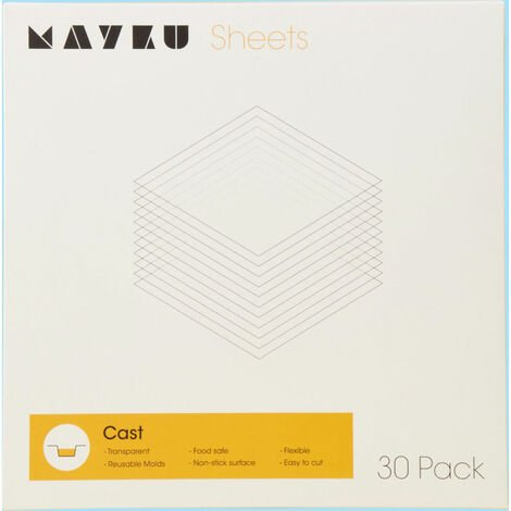 Mayku Cast Transparent 0.5mm PETG Food-safe Sheet - 30 Pack
