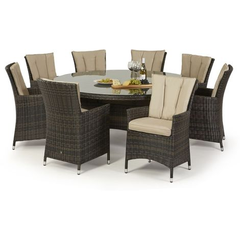 Maze Rattan La 8 Seat Round Dining Set