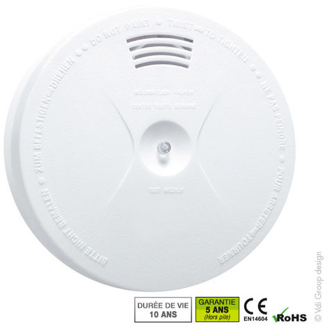 MB Security - Detector de humo norma CE fotoeléctrico MB-SA01
