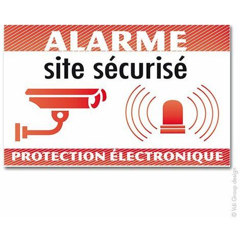 MB Security - Kit de 5 autocollants : Alarme dissuasif pour marquage du local protégé