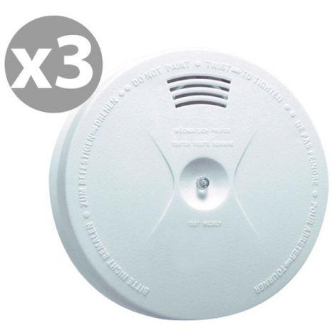 MB Security - Lote de 3 detectores de humo CE MB-SA01