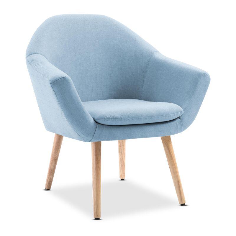 Mc Haus - Nordic Poltrona Navian Soggiorno o camera da letto colore Blu - MCHAUS