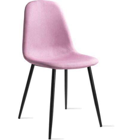 Mc Haus - Pack 2 chaises AFRA design Safari salle manger 46x43x86cm
