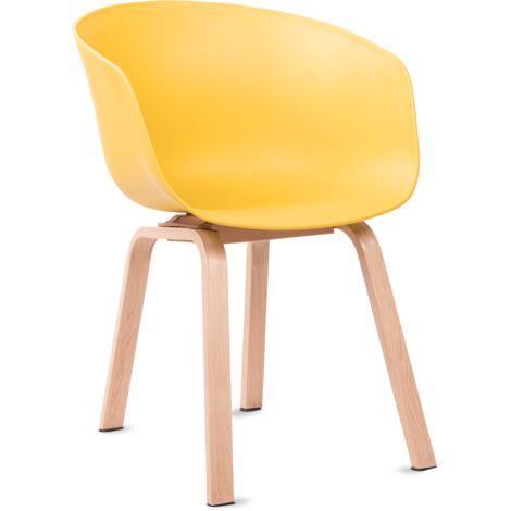 Mc Haus - Pack 2 chaises ERIKA nordic design salon, salle à manger 56,5x56x76,5cm