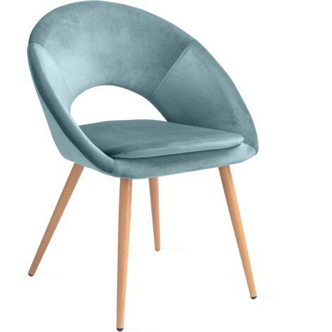 Mc Haus Pack 2 chaises nordiques design Laguna Salon Salle manger