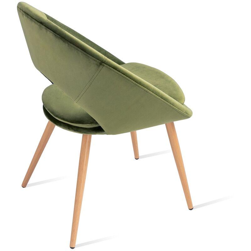 Mc Haus Pack 2 sedie Laguna nordic design  perla sala pranzo Grigio 46x43x82cm