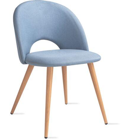 Mc Haus - Pack 2 sillas LUNA diseño nordico salon comedor 49x46x76cm